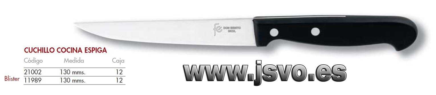 Cuchillo cocina 130mm espiga js venta online for Cuchillos cocina online