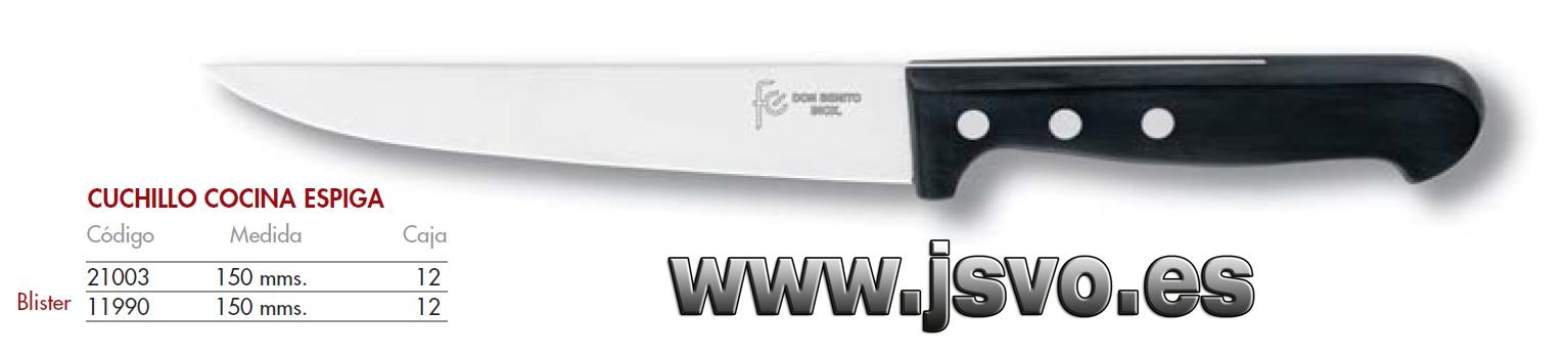 Cuchillo cocina 150mm espiga js venta online for Cuchillos cocina online