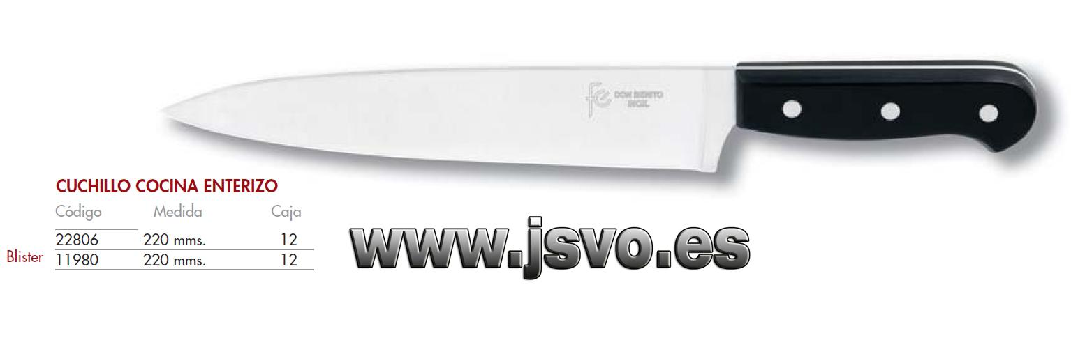 Cuchillo cocina 220mm enterizo js venta online for Cuchillos cocina online