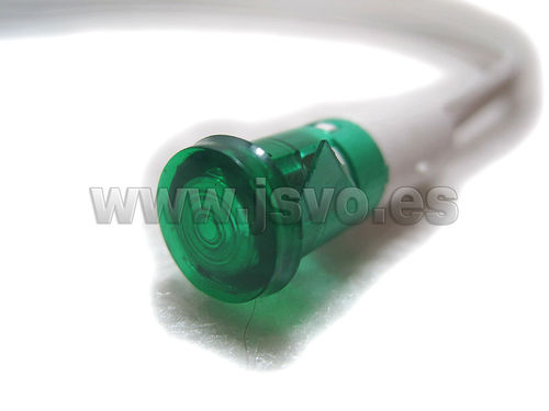 Piloto led 10,5mm 220Vac 12.856/230/V (verde)