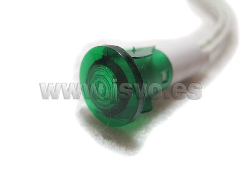 Piloto led 13,5mm 230Vac 12.858/230/V (verde)